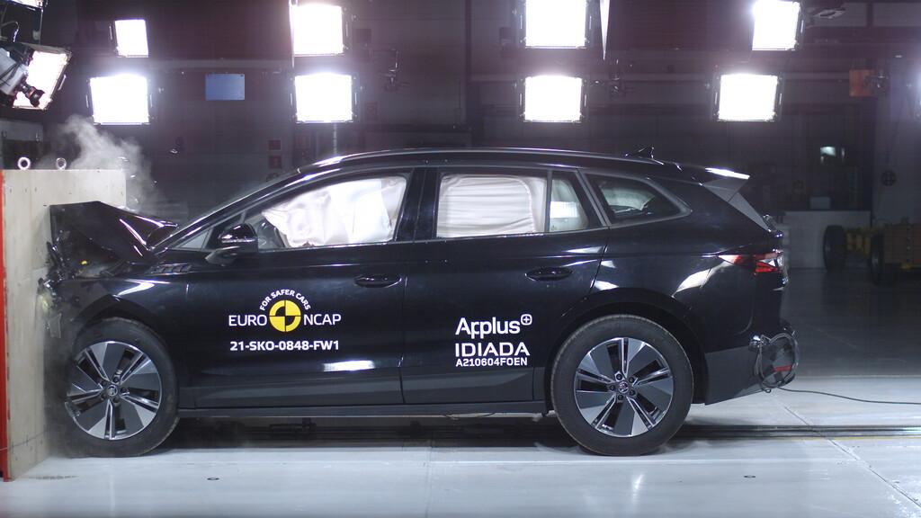 Skoda Enyaq iV im Euro NCAP-Crashtest