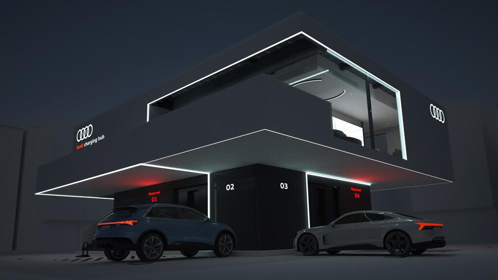 Audi plant Ladestationen mit Lounge